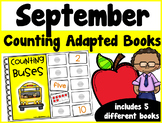 September Counting Adapted Books {set of 5 books) Print an