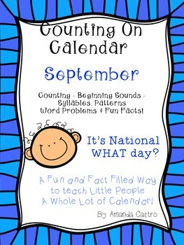 September - Counting On Calendar for Primary Students