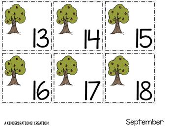September Create-A-Pattern Calendar Cards- Melonheadz Style