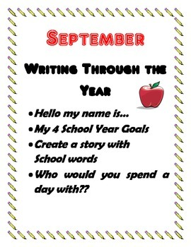 September Creative Writing Projects