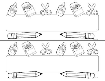 September Cursive Doodle Tags - Ink Friendly Editable Desk Name Tags