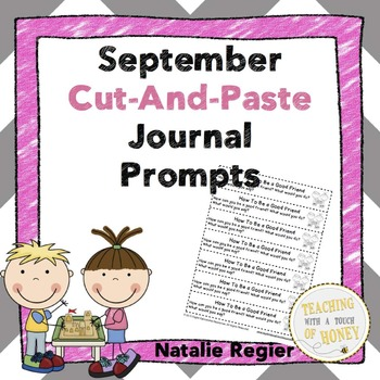 September Writing Activities | Writing Prompts | Cut-and-Paste Writing
