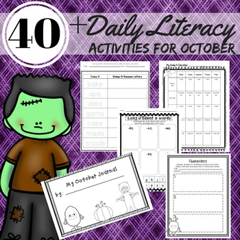 Daily 5 Literacy Activities 2nd Grade October Reading, Wri