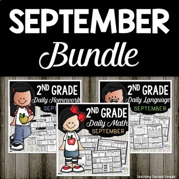 September Daily Morning Work and Homework Bundle for Second Grade