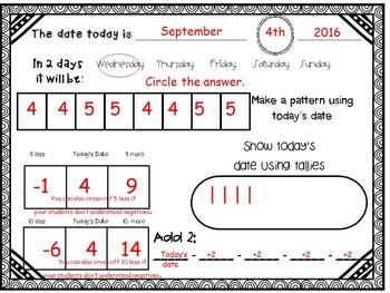 September Daily Calendar Activity Journal
