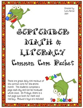September Daily Common Core Third Grade Practice For Langu
