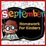 Homework:  Kindergarten September Packet (Differentiated Back to School)