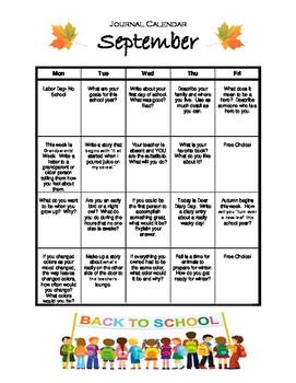 September Daily Journal Calendar