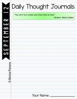 September Journal Prompts for Google Drive