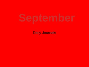 September Daily Journal Prompts