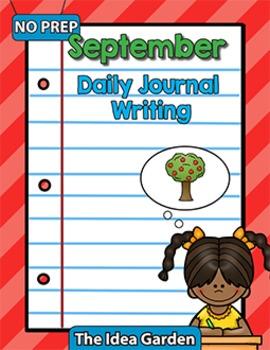 September Daily Journal Writing - NO PREP