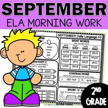 September Daily Language Second Grade