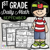 September Daily Math (1st Grade) - Use for morning, homework or independent work