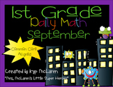 First Grade Daily Math September - NO PREP! (Common Core Aligned)