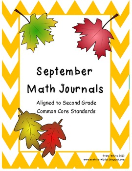 September Daily Math Journal: 2nd Grade Common Core
