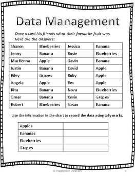 Data Management Daily Math Pages