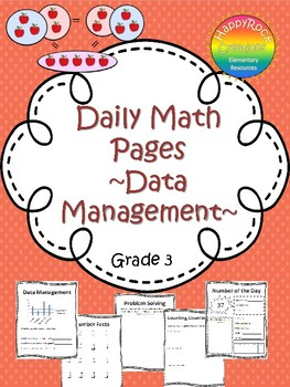 September Daily Math Pages (Focus on Data Management)