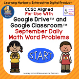 September Daily Math Word Problems