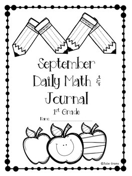 Morning Work September Daily Math and Writing Journal