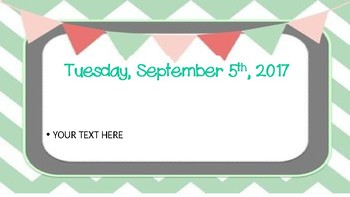 September Daily Morning Work/Powerpoint Editable