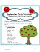 Daily Number-September 2nd Grade-Activities to Reinforce M