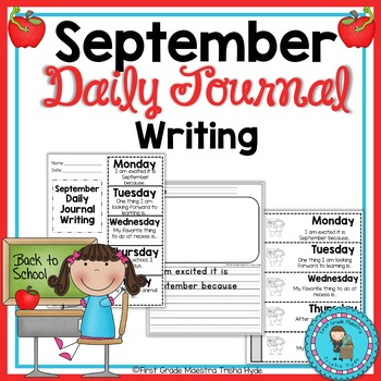 September Daily Quick Writes Writing Journal