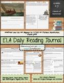 ELA Daily Reading Journal - September - Bell Ringers Morning Work