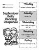 September Daily Reading Response