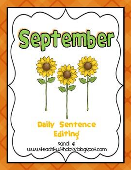 September Daily Sentence Editing