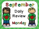 September Daily Review PowerPoints for Kindergarten~ Great for Calendar Time!