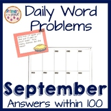 September Daily Word Problems within 100- Back To School