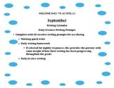 September Daily Writing Calendar! Grades 2,3,4