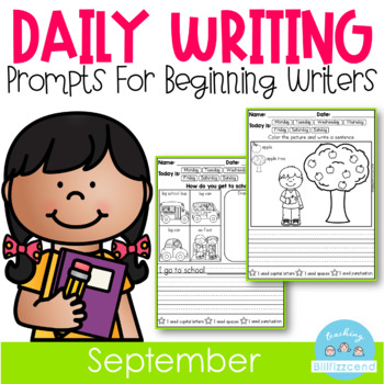 September Daily Writing Journal Prompts for Beginning Writers