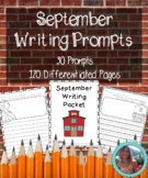 September Writing Prompts on Themed Paper {120+ Differentiated Pages!}