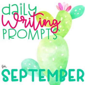 September Daily Writing Prompts (with Daily Slides)