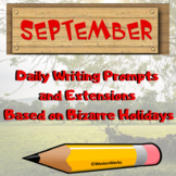 September Writing Prompts with Daily Extensions STEM & Pho