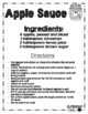 Apple Unit:  Reading, Math and Science