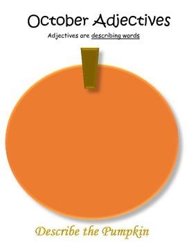 September - December Adjective Charts