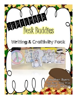 September Desk Buddies {Writing & Craftivity}