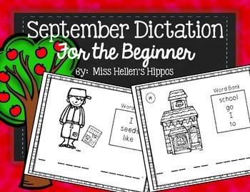 September Dictation {For the Beginner}