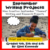 September Writing Projects for Upper Elementary Students