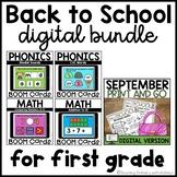 September Digital Bundle | First Grade Distance Learning