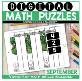 September Digital Math Puzzles