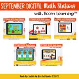September Digital Math Stations for Back to School l Task