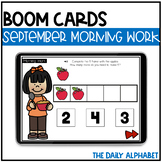 September Digital Morning Work | Kindergarten Boom Cards™