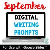 September Digital Writing Prompts for Google Drive