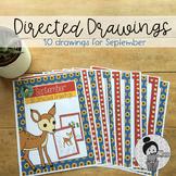 Back to School Art Activities (September Directed Drawings)