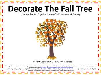 Autumnfall tree do together parentchild homework activity tpt autumnfall tree do together parentchild homework activity maxwellsz