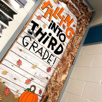 September Door Decoration Set: Fall
