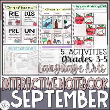 September ELA Interactive Notebook